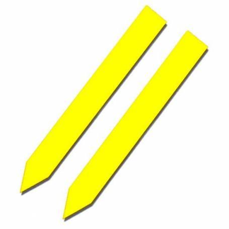 Etiquetas de picar amarillas