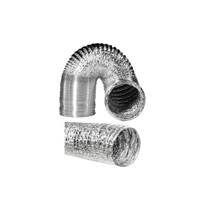10m Tubo flexible de Aluminio Aluconnect para Extracción del aire 102mm